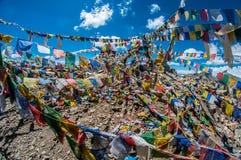 Khardungla-Durchlauf-Schrein Stockfotografie
