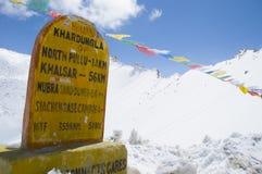 Khardungla, the highest road in India Stock Image
