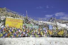 KhardungLa przepustka, Ladakh Zdjęcia Royalty Free