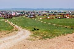 Kharhorin, κεντρική Μογγολία στοκ εικόνα με δικαίωμα ελεύθερης χρήσης