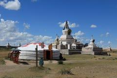 Kharkhorin Erdene Zuu kloster Royaltyfri Bild