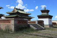 Kharkhorin Erdene Zuu kloster Arkivbild