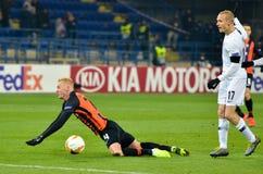 KHARKIV, ΟΥΚΡΑΝΙΑ - 14 Φεβρουαρίου 2019: Ο Sebastian οδήγησε τον παίκτη κατά τη διάρκεια της αντιστοιχίας ένωσης UEFA Ευρώπη μετα στοκ εικόνα με δικαίωμα ελεύθερης χρήσης