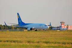 Kharkiv Airlines Boeing 737. BORYSPIL, UKRAINE - JUNE, 28, 2014: Kharkiv Airlines Boeing 737 - UR-CLS taxiing, Boryspil International Airport Stock Photos