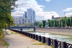 Kharkiv cityscape Royaltyfria Foton