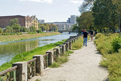 Kharkiv cityscape Arkivbild