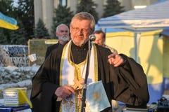 KHARKIV, DE OEKRAÏNE - MEI 18: Een vergadering in geheugen van slachtoffers van de volkerenmoord van Krimtatars Royalty-vrije Stock Foto