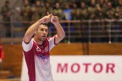 KHARKIV, DE OEKRAÏNE - SEPTEMBER 22: EHF de gelijke van de de Kampioenenliga van Mensen tussen HC-Motor Zaporozhye en HBC Nantes Royalty-vrije Stock Afbeeldingen