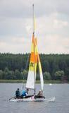 KHARKIV, 21 OEKRAÏNE-JULI: Varend jacht21, 2013 in Kharkiv, Stock Foto