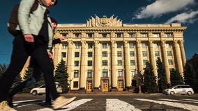 Kharkiv Region State Administration building on the Fredom Square stock video