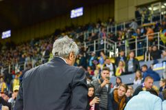 KHARKIV, UCRÂNIA - 2 de setembro de 2017: Duri de Mircea Lucescu do treinador Imagem de Stock