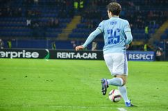 KHARKIV UKRAINA, FEB, - 23: Giuseppe Rossi podczas UEFA Europa zdjęcie royalty free