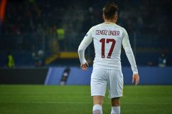 KHARKIV UKRAINA, LUTY, - 21, 2018: Cengiz podczas UEFA C obrazy stock