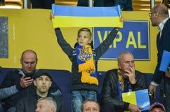 KHARKIV UKRAINA - September 02, 2017: Fans av det ukrainska teet Royaltyfri Fotografi