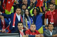 KHARKIV UKRAINA - September 02, 2017: Fans av det ukrainska teet Royaltyfria Foton
