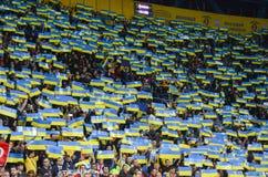 KHARKIV UKRAINA - September 02, 2017: Fanwihthflagga av UK Fotografering för Bildbyråer