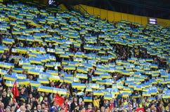KHARKIV UKRAINA - September 02, 2017: Fanwihthflagga av UK Royaltyfri Fotografi