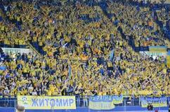 KHARKIV UKRAINA - September 02, 2017: Fanwihthflagga av UK Royaltyfria Bilder