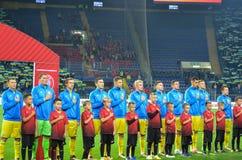 KHARKIV UKRAINA - September 02, 2017: Fotbollsspelare av Uen Royaltyfria Foton