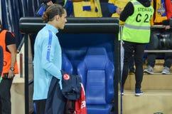 KHARKIV UKRAINA - September 02, 2017: Fotbollsspelare under th Royaltyfri Foto
