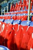 KHARKIV UKRAINA - September 02, 2017: Turkflaggor i det stan Royaltyfria Foton