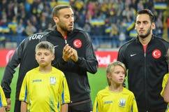 KHARKIV UKRAINA - September 02, 2017: Turkiskt fotbollslag till Royaltyfri Bild
