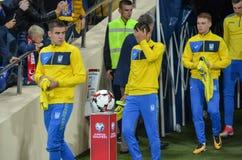 KHARKIV UKRAINA - September 02, 2017: Ukrainisn fotbollsspelare Royaltyfri Fotografi