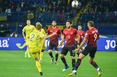KHARKIV UKRAINA, Wrzesień, - 02, 2017: Gracz futbolu w akci Fotografia Stock