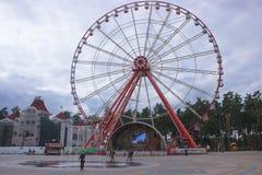 Kharkiv Ukraina, Wrzesień, - 07, 2017: Punktu zwrotnego historyczny carousel Fotografia Stock