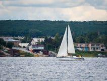 KHARKIV, UKRAINE-JULY 21: Sailing yacht21, 2013 in Kharkiv, Stock Image