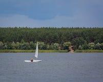 KHARKIV, UKRAINE-JULY 21: Sailing yacht21, 2013 in Kharkiv, Royalty Free Stock Photos