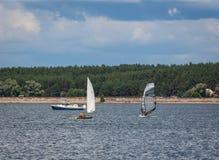 KHARKIV, UKRAINE-JULY 21: Sailing yacht21, 2013 in Kharkiv, Stock Photo