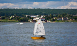 KHARKIV, UKRAINE-JULY 21: Sailing yacht21, 2013 in Kharkiv, Stock Images