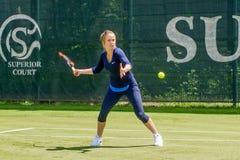KHARKIV, UKRAINE - JUNE 07: Ukrainian tennis player Elina Svitolina gave open training session in Kharkiv on June 7, 2016. Royalty Free Stock Photo