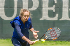 KHARKIV, UKRAINE - JUNE 07: Ukrainian tennis player Elina Svitolina gave open training session in Kharkiv on June 7, 2016. Stock Photos