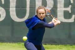 KHARKIV, UKRAINE - JUNE 07: Ukrainian tennis player Elina Svitolina gave open training session in Kharkiv on June 7, 2016. Royalty Free Stock Images