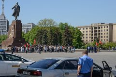 People and police in Kharkiv Royalty Free Stock Photo