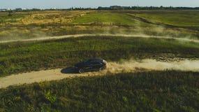 Kharkiv, Ukraine - 09 22 18 : Outre du lecteur af d'essai sur route une nouvelle voiture Audi d'un coureur professionnel photos stock
