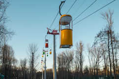 KHARKIV, UKRAINE, Passenger cable car in Maxim Gorky Central Park for Culture and Recreation Royalty Free Stock Image