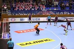 KHARKIV, UKRAINE - SEPTEMBER 22: EHF Men's Champions League match between HC Motor Zaporozhye and HBC Nantes. KHARKIV, UKRAINE - SEPTEMBER 22: Igor Soroka Stock Photo