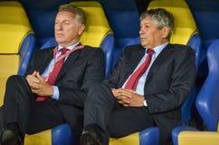 KHARKIV, UKRAINE - 2 septembre 2017 : Duri de Mircea Lucescu d'entraîneur Image stock