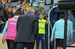 KHARKIV, UKRAINE - 2 septembre 2017 : Duri de Mircea Lucescu d'entraîneur Photos stock