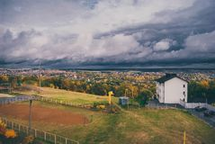Before the rain. Kharkov befor the rain Royalty Free Stock Images