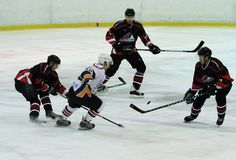 Kharkov- Donbass ice hockey match Royalty Free Stock Photography