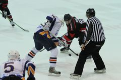 Kharkov- Donbass ice hockey match Stock Photography