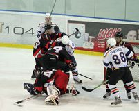 Kharkov- Donbass ice hockey match Royalty Free Stock Images