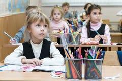 Kharkov, Ukraine - 30. November 2017: Kinder im Klassenzimmer Stockbild