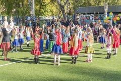 Kharkov, Ukraine - 12 octobre 2018 : Vacances d'automne dans le jardin d'enfants photos libres de droits