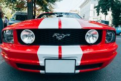 Free KHARKOV, UKRAINE - SEPTEMBER 1, 2018: Ford Mustang Red Sport Car Royalty Free Stock Photos - 128958778