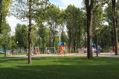 Central Park of Culture and Leisure in Kharkov, Ukraine Royalty Free Stock Image